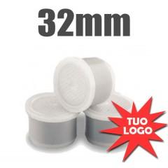 100 Capsule compatibili personalizzate da 32mm